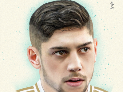 Fede Valverde retrato portrait diseño mexico ozgaleano art digitalart color fanart drawing dibujo arte futbol real madrid fede valverde