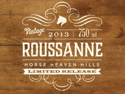 Roussanne Wine Label wine packaging label wine label wine horse wood wood grain