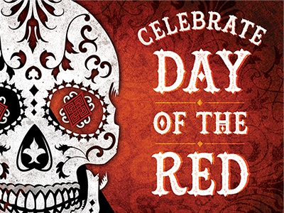 "Red Diamond Wines ""Day of the Red"" promotion día de muertos wine skull sugar skull muertos day of the dead"