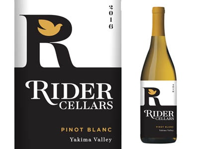Rider Cellars wine package concept vineyard bottle grapes white wine pinot label package packaging wine