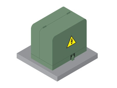 Isometric transformer power electrical box electrical danger isometric transformer