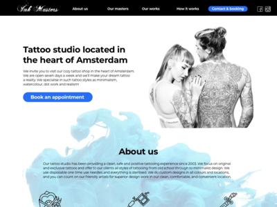 Landing Page Tattoo Sudio