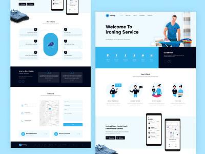 Ironing Service Website redesign website ui