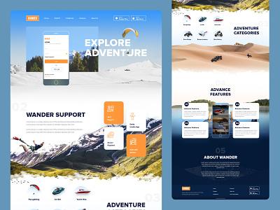 Adventure Website Redesign redesign website ui