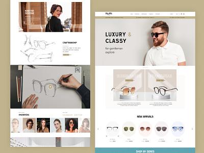 NUMI@paris Eyewear Redesign website graphic design ui