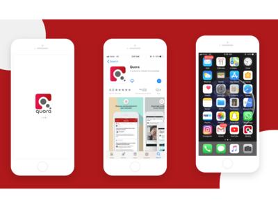 "Daily Ui ( ""Quora"" App Icon)"