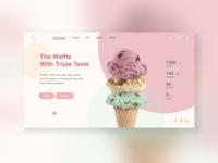Waffle Icecream Concept UI