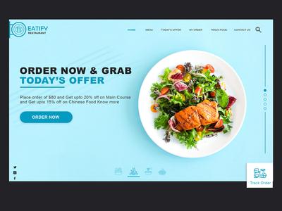 Food Online Order Landing Webpage
