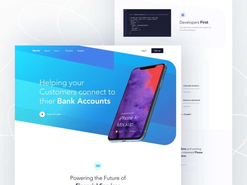 Freebie: fintech web landing page uxdesign uidesign mockup freebie landing page concept money transfer banking app web designer mobile app crypto wallet block-chain cryptocurrency start-up webdesign finance fin-tech landing page
