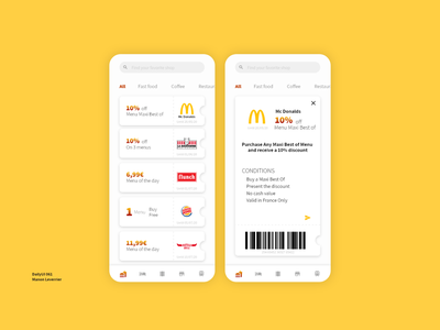 DailyUI 061 Discount Coupon discount card 61 061 discount voucher coupon code coupons coupon discounts discount design mobile daily 100 challenge application ui dailyui daily ui