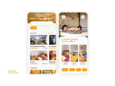 DailyUI 067 Hotel booking hotel branding 67 067 hotel app booking hotel booking hotels hotel design mobile daily 100 challenge application ui dailyui daily ui