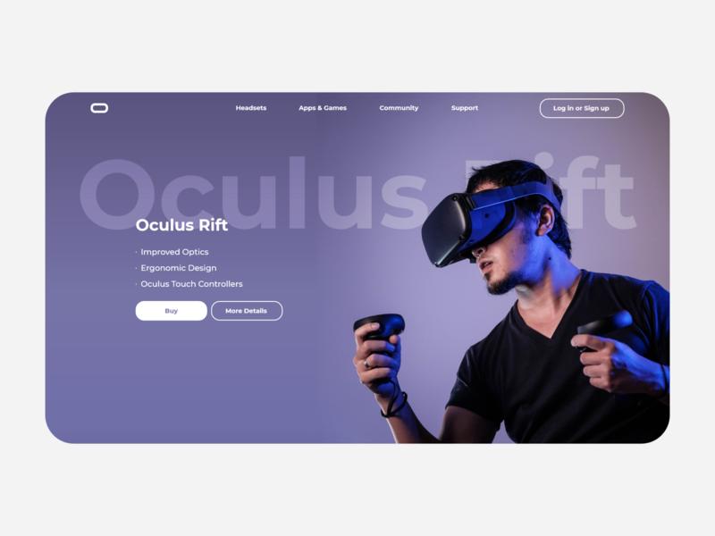 DailyUI 073 VR Virtual reality oculus vray 73 073 virtual reality virtualreality virtual ar vr desktop daily 100 challenge application ui dailyui daily ui