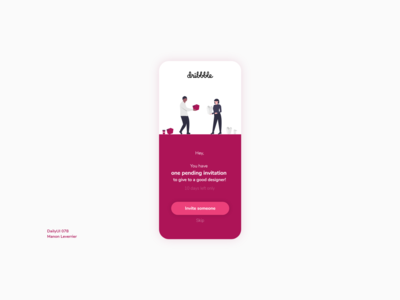 DailyUI 078 Pending Invitation design mobile daily 100 challenge application ui dailyui daily ui