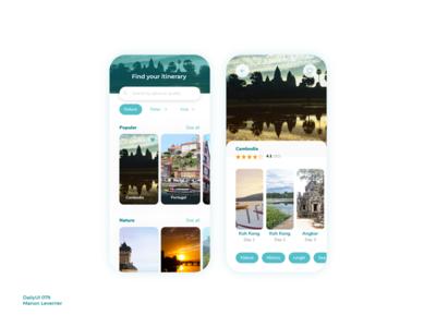 DailyUI 079 Itinerary create cambodia 79 079 itinerary design mobile daily 100 challenge application ui dailyui daily ui
