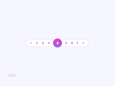 DailyUI 085 Pagination daily ui 085 dailyui 85 dailyui 085 number page pagination menu desktop design mobile daily 100 challenge application ui dailyui daily ui