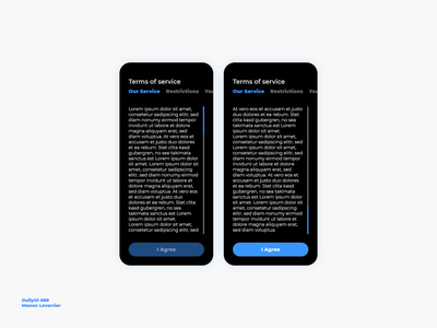 DailyUI 089 Terms of service daily ui 89 daily ui 089 dailyui 89 dailyui 089 terms and conditions terms of service terms design mobile daily 100 challenge application ui dailyui daily ui