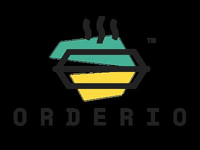 Orderio - Logo Design design  front-end  back-end design agency icon design food app branding logo