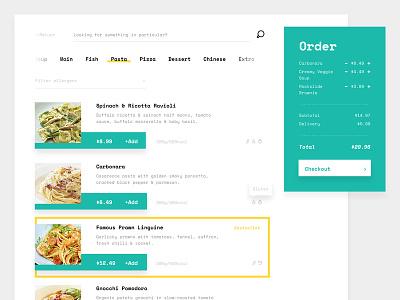 Widget Design for Food Ordering System user experience user interface debut shot design agency branding design  front-end  back-end web deisgn web design agency ui  ux design food app