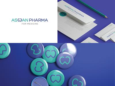 Aswan pharma 01 mark logotype minimal visual identity flat typography logo brand identity brand design branding