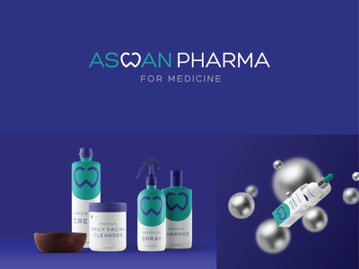 aswan pharma 03 visual identity icon design logotype minimal typography logo mark brand identity brand design branding
