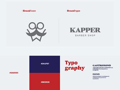 Kapper Branding 01 logodesign typography icon design mark minimal visual identity logo design logo branding brand identity brand design