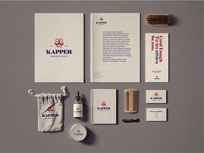 Kapper Branding 03 icon design minimal symbol barbershop logodesign visual identity mark logo brand identity brand design branding