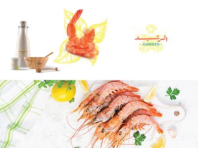 alrsheed 01 logotype arabic logo illustration restaurant seafood typography mark visual identity brand identity brand design branding