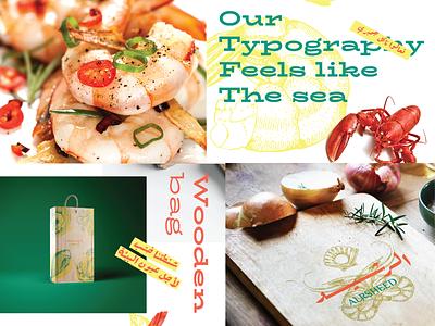 alrsheed 02 restaurant seafood arabic logo brand identity mark logotype illustration branding brand design typography visual identity