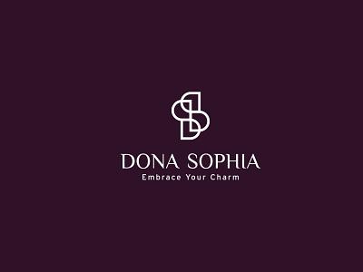 Dona sophia logo design brand identity visual identity beauty logo skincare bauhaus logo icon design logodesign brand design mark minimal branding