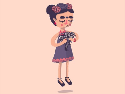 Cute little Frida digital art digital drawing illustration digital frida kahlo