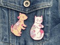 Lovely Pets Hard Enamel Pins