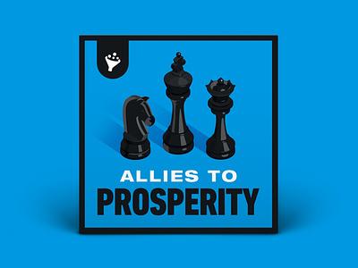 Podcast Cover — Allies to Prosperity vector podcast logo podcast art podcast cover art podcast cover podcast logo branding graphic design xqggqx