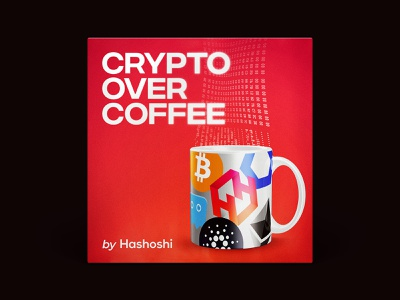 Podcast Cover — Crypto Over Coffee crypto podcast crypto news coffee hashoshi blockchain cryptocurrency crypto podcast logo podcast podcast cover art podcast cover