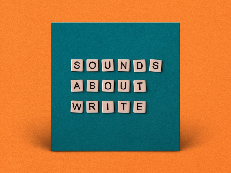 Podcast Cover — Sounds About Write letters scrabble design podcast logo podcast art podcast cover art podcast cover podcast logo graphic design branding xqggqx
