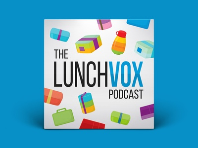 Podcast Cover — The Lunchvox Podcast vector podcast logo podcast art podcast cover art podcast cover podcast logo branding graphic design xqggqx