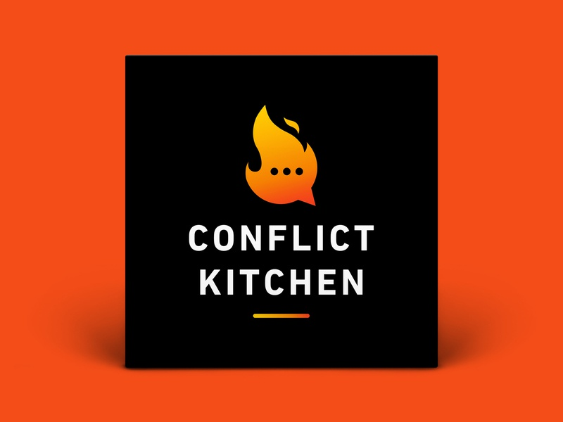 Podcast Cover — Conflict Kitchen design vector podcast logo podcast art podcast cover art podcast cover podcast logo branding graphic design xqggqx