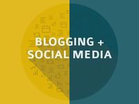Blogging + Social Media Badge