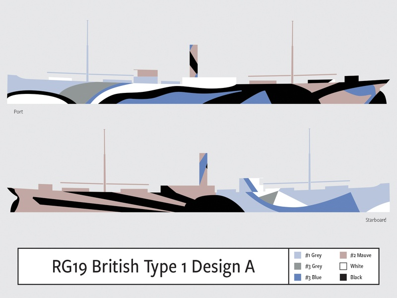 RG19 British Type1 Design A illustration camouflage dazzle