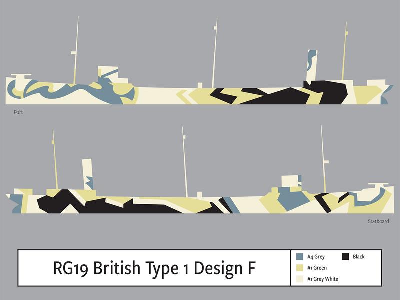 RG19 British Type1 Design F illustration camouflage dazzle