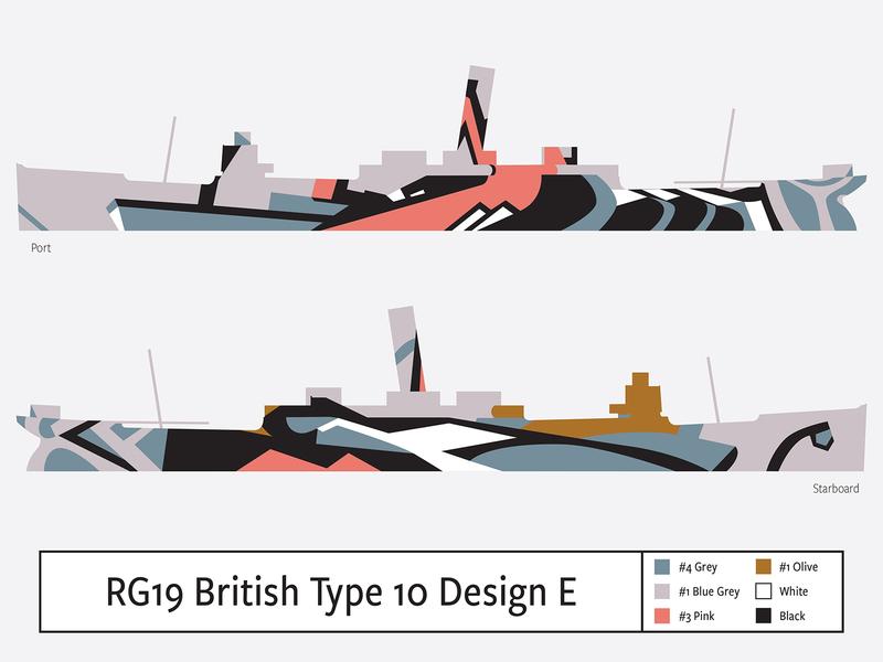 RG19 British Type 10 Design E illustration camouflage dazzle