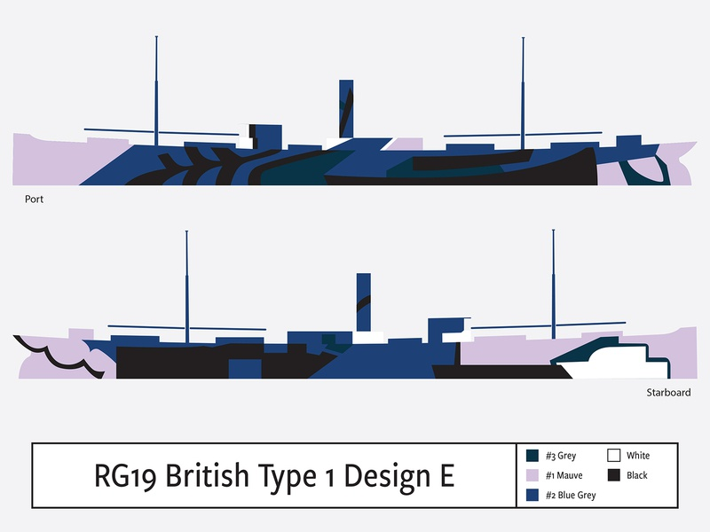 RG19 British Type1 Design E illustration camouflage dazzle