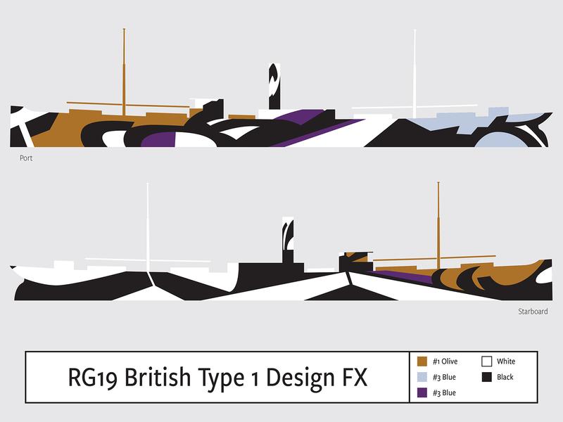 RG19 British Type1 Design FX illustration camouflage dazzle