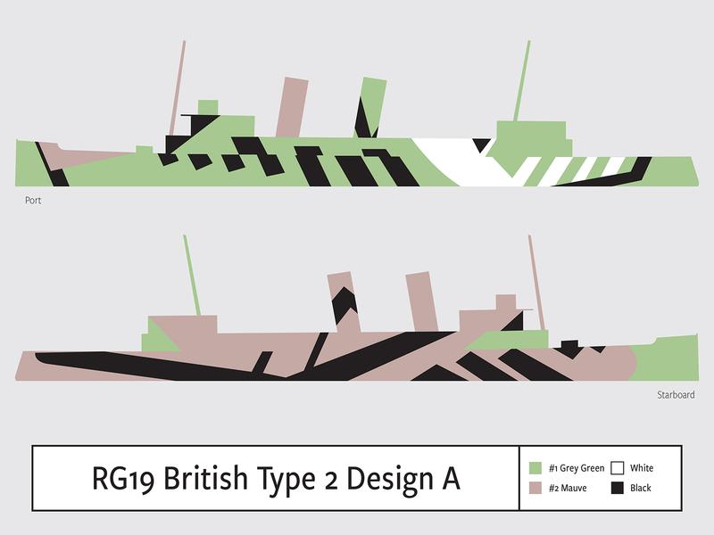 RG19 British Type2 Design A illustration camouflage dazzle