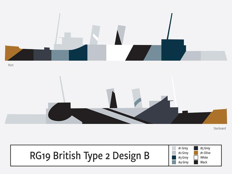 RG19 British Type2 Design B illustration camouflage dazzle