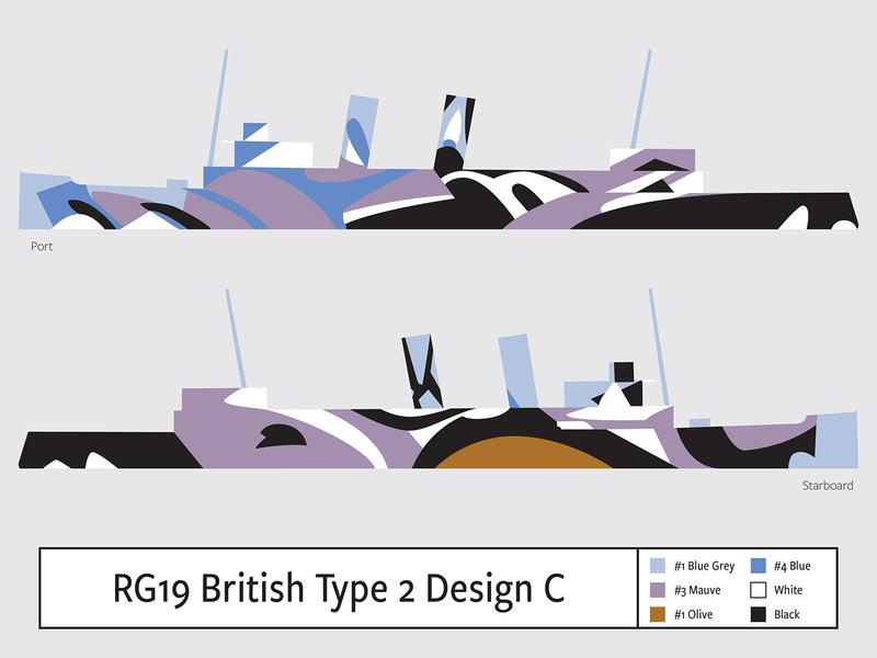 RG19 British Type2 Design C illustration camouflage dazzle