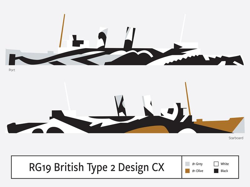 RG19 British Type2 Design CX illustration camouflage dazzle