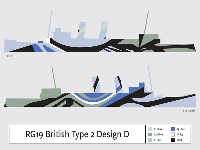 RG19 British Type 2 Design D illustration camouflage dazzle