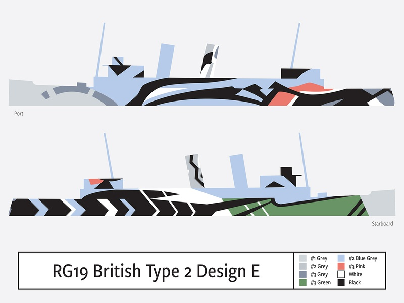RG19 British Type 2 Design E illustration camouflage dazzle