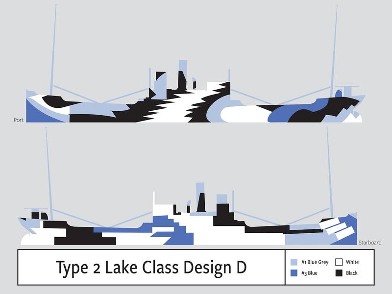 Type 2 Design D Lake Class illustration camouflage dazzle
