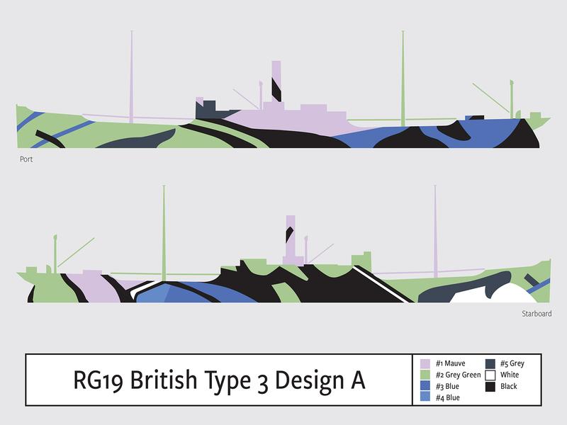 RG19 British Type 3 Design A illustration camouflage dazzle